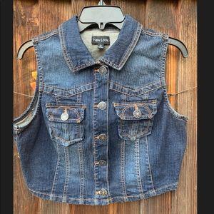 New Look Denim Dark Wash Jean Vest